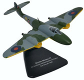 Oxford Diecast GLOSTER METEOR F2 DH HALFORD GOBLIN JET TEST Scale 1/76