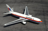 """Herpa United Airlines Boeing 767-200 - """"Rainbow / Saul Bass colors"""" - N607UA """"City of Denver"""" Scale 1/500"""