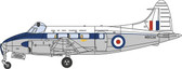 OXFORD DIECAST DH104 DEVON WB534 RAF TRANSPORT COMMAND SCALE 1/72 OX72DV005