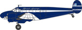 OXFORD DIECAST  TWIN BEECH G-BKGM - BRISTOL AIRWAYS SCALE 1/72 OX72BE001