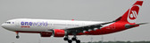 JC WINGS AIR BERLIN AIRBUS A330-200 REG: D-ABXA ONEWORLD LIVERY WITH STAND SCALE 1/200 JC2197 DUE FEB  2018
