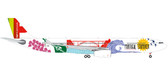 """Herpa TAP Portugal Airbus A330-300 """"Portugal Stopover"""" - CS-TOW  Scale 1/200 558945"""