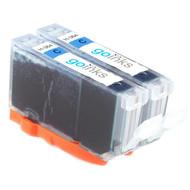 2 Cyan Compatible HP 364C (HP364XL) Printer Ink Cartridges