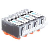 4 Black Compatible HP 364Bk (HP364XL) Printer Ink Cartridges