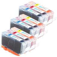 3 Compatible Sets of 3 C/M/Y HP 364 (HP364XL) Printer Ink Cartridges (Colour Set)