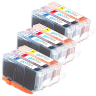 3 Compatible Sets of 3 C/M/Y HP 364 (HP364XL) Printer Ink Cartridges (Colour Set)