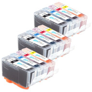 3 Compatible Sets of 4 HP 364 (HP364XL) Printer Ink Cartridges
