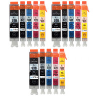 3 Compatible Sets of 5 PGI-570 & CLI-571 Printer Ink Cartridges