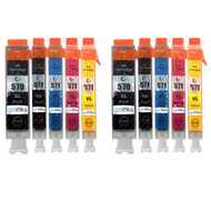 2 Go Inks Set of 5 Ink Cartridges to replace Canon PGI-570 & CLI-571 Compatible / non-OEM for PIXMA Printers (10 Pack)