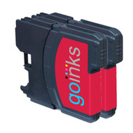 2 Magenta Compatible Brother LC985 Printer Ink Cartridges