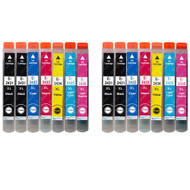 2 non-OEM T2438 + T2431 (24XL Series) Compatible Set + Extra Black of Epson Printer Ink Cartridges (T2431, T2432, T2433, T2434, T2435, T2436)