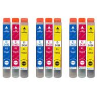 3 non-OEM T2438 (24XL Series) C/M/Y Compatible Set of 3 Epson Printer Ink Cartridges T2432 / T2433 / T2434 (Colour Set)
