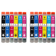 2 non-OEM T2438 (24XL Series) Compatible Set of 6 Epson Printer Ink Cartridges (T2431, T2432, T2433, T2434, T2435, T2436)