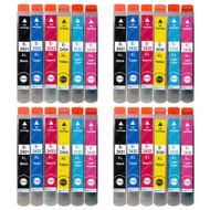 4 non-OEM T2438 (24XL Series) Compatible Set of 6 Epson Printer Ink Cartridges (T2431, T2432, T2433, T2434, T2435, T2436)