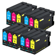 4 Compatible Sets of 3 C/M/Y Canon PGI-1500XL Printer Ink Cartridges (Colour Set)