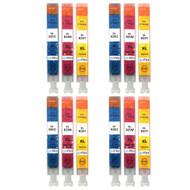 4 Compatible Sets of 3 C/M/Y HP 920 (HP920XL) Printer Ink Cartridges (Colour Set)