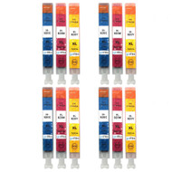 4 Go Inks Compatible C/M/Y Sets to replace HP 920 Colour Printer Ink Cartridges (12 Inks) - Cyan, Magenta, Yellow Compatible / non-OEM for HP Photosmart Printers