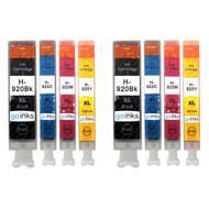 2 Compatible Sets of 4 HP 920 (HP920XL) Printer Ink Cartridges