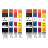 2 Compatible Sets of 4 HP 920 (HP920XL) Printer Ink Cartridges
