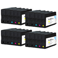 4 Compatible Sets of 4 + Extra Black HP 950 & 951 (HP 950XL & 951XL) Printer Ink Cartridges