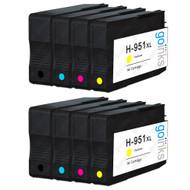 2 Compatible Sets of 4 HP 950 & 951 (HP 950XL & 951XL) Printer Ink Cartridges