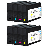 2 Compatible Sets of 4 HP 950 & 951 (HP 950XL & 951XL) Printer Ink Cartridges