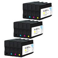 3 Compatible Sets of 4 HP 950 & 951 (HP 950XL & 951XL) Printer Ink Cartridges