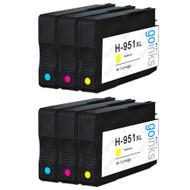 2 Compatible Sets of 3 C/M/Y HP 951 (HP951XL) Printer Ink Cartridges (Colour Set)
