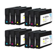 4 Compatible Sets of 3 C/M/Y HP 935 (HP935XL) Printer Ink Cartridges (Colour Set)