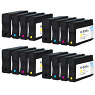 4 Compatible Sets of 4 HP 934 & 935 (HP 934XL & 935XL) Printer Ink Cartridges