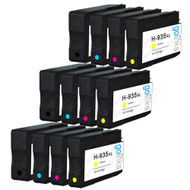 3 Go Inks Compatible Set of 4 to replace HP 934 & 935 Printer Ink Cartridge (12 Inks) - Black, Cyan,  Magenta, Yellow Compatible / non-OEM for HP Photosmart Printers