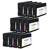 3 Compatible Sets of 4 HP 934 & 935 (HP 934XL & 935XL) Printer Ink Cartridges