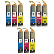 3 C/M/Y Colour Sets of Compatible Brother LC123 Printer Ink Cartridges