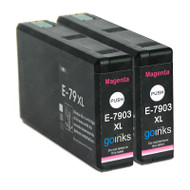 2 Go Inks Magenta Ink Cartridges to replace Epson T7903 (79XL Series) Compatible/ non-OEM for Epson WorkForce Pro  Printers
