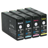 1 Go Inks Set of 4 Ink Cartridges to replace Epson T7906 (79XL Series) Compatible/non-OEM for Epson WorkForce Pro  Printers (4 Inks)