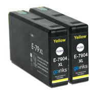2 Go Inks Yellow Ink Cartridges to replace Epson T7904 (79XL Series) Compatible/ non-OEM for Epson WorkForce Pro  Printers