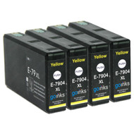 4 Go Inks Yellow Ink Cartridges to replace Epson T7904 (79XL Series) Compatible/ non-OEM for Epson WorkForce Pro  Printers