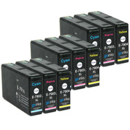 3 Go Inks Set of 3 Ink Cartridges to replace Epson T7906 (79XL Series) C/M/Y Compatible/non-OEM for Epson WorkForce Pro  Printers (9 Inks)