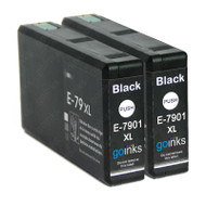 2 Go Inks Black Ink Cartridges to replace Epson T7901 (79XL Series) Compatible/ non-OEM for Epson WorkForce Pro  Printers