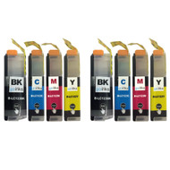 2 Sets of Compatible Brother LC123 Printer Inks Cartridges