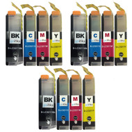 3 Go Inks Set of 4 Cartridges to replace Brother LC3211 Compatible/non-OEM for Brother DCP & MFC Printers (12 Inks)