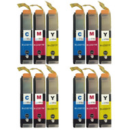4 Go Inks Set of 3 C/M/Y Ink Cartridges to replace Brother LC3211 Compatible/non-OEM for Brother DCP & MFC Printers (12 Inks)