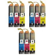 3 Go Inks Set of 3 C/M/Y Ink Cartridges to replace Brother LC3211 Compatible / non-OEM for Brother DCP & MFC Printers (9 Inks)