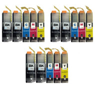 3 Go Inks Compatible Set of 4 + Extra Black to replace Brother LC3211 Compatible/non-OEM for Brother DCP & MFC Printers (15 Inks)