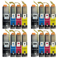 4 Go Inks Set of 4 Cartridges to replace Brother LC3211 Compatible/non-OEM for Brother DCP & MFC Printers (16 Inks)