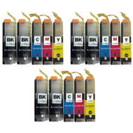 3 Go Inks Compatible Set of 4 + Extra Black to replace Brother LC3217 Compatible/non-OEM for Brother MFC Printers (15 Inks)