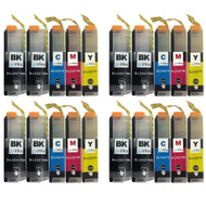 4 Go Inks Compatible Set of 4 + Extra Black to replace Brother LC3217 Compatible / non-OEM for Brother MFC Printers (20 Inks)