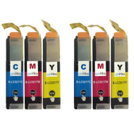 2 Go Inks Set of 3 C/M/Y Ink Cartridges to replace Brother LC3217 Compatible/non-OEM for Brother MFC Printers (6 Inks)