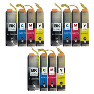 3 Go Inks Set of 4 Cartridges to replace Brother LC3217 Compatible/non-OEM for Brother MFC Printers (12 Inks)