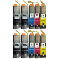 2 Go Inks Compatible Set of 4 + Extra Black to replace Brother LC3217 Compatible/non-OEM for Brother MFC Printers (10 Inks)